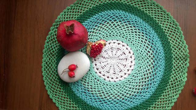 необычная мятная салфетка вязаная крючком crochet doily pattern vintage