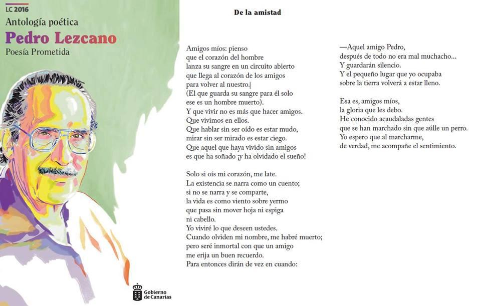 Un espacio del municipio llevará el nombre de poeta, Pedro Lezcano