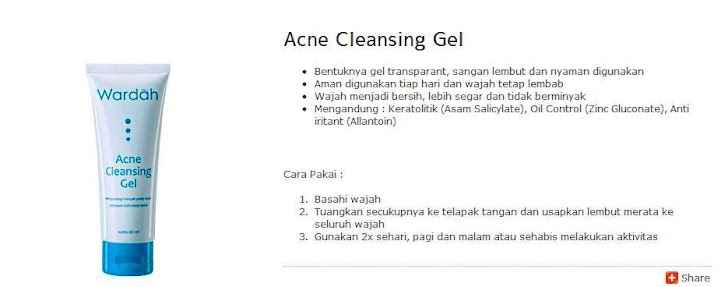 Acne Cleansing Gel - $ 8
