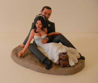 orme magiche cake topper artistici personalizzati sposini torta nuziale statuetta personalizzata statuine sposi