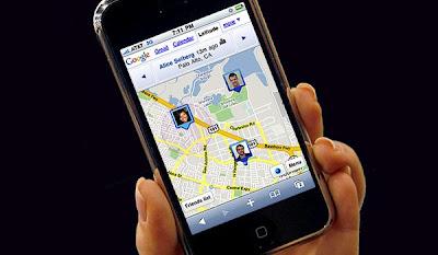 locate cell phone on Google Latitude