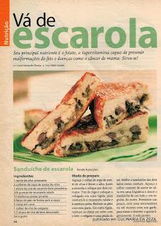 RECEITA DE SANDUÍCHE DE ESCAROLA