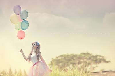 pastel,balões ,menina, natureza, paisagem, fotografia, ar livre