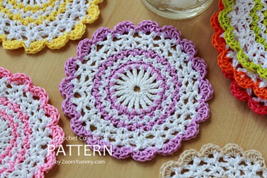 Free Online Crochet Patterns For Coasters : bebe-bloemetje