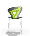 silla cocina diseño VERDE biba apilable