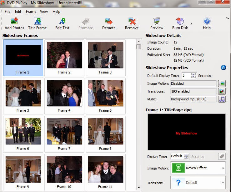 DVD PixPlay Professional Edition Slayt Programı Full İndir