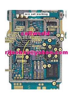 Nokia 6020 Mic Repair