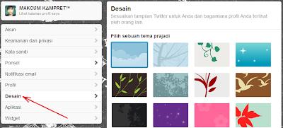 Cara Mengganti Background dan Tema Twitter