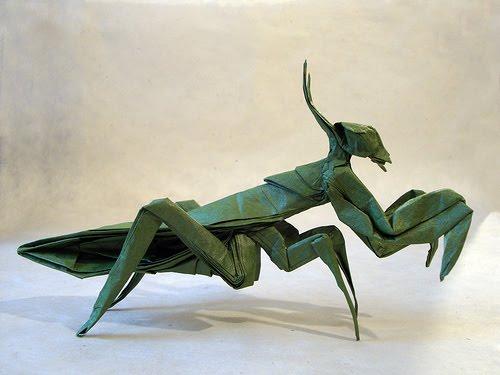 Origami Maniacs Origami Praying Mantis By Robert J Lang