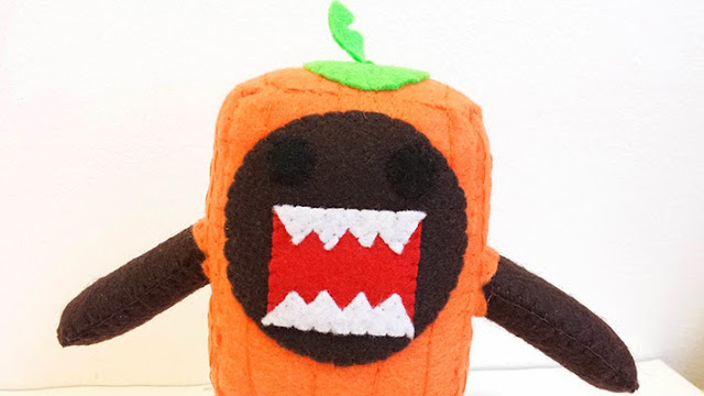How to Make a Domo Pumpkin plushie tutorial
