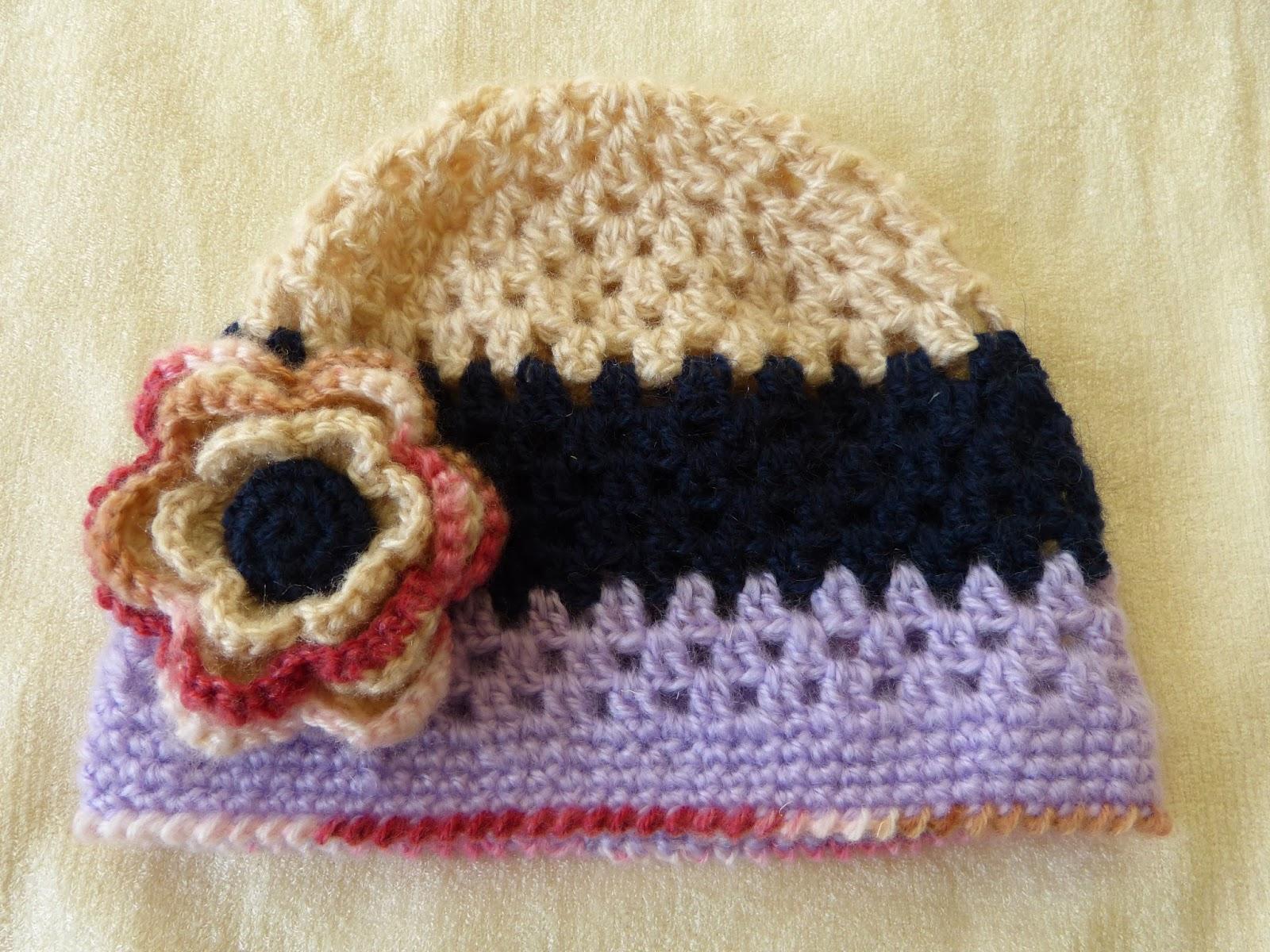 szydełkowa czapka, crochet, czapka z kwiatem, ażurowa czapka,