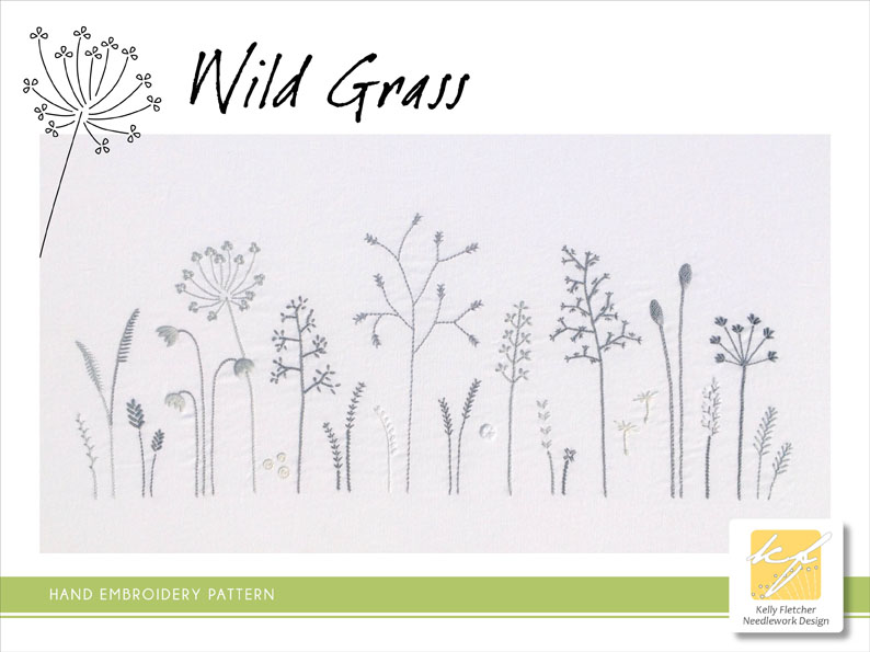 Materialistic Wild Grass A Modern Hand Embroidery Pattern