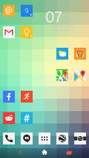 free download XPERIA Triflat Theme android apk
