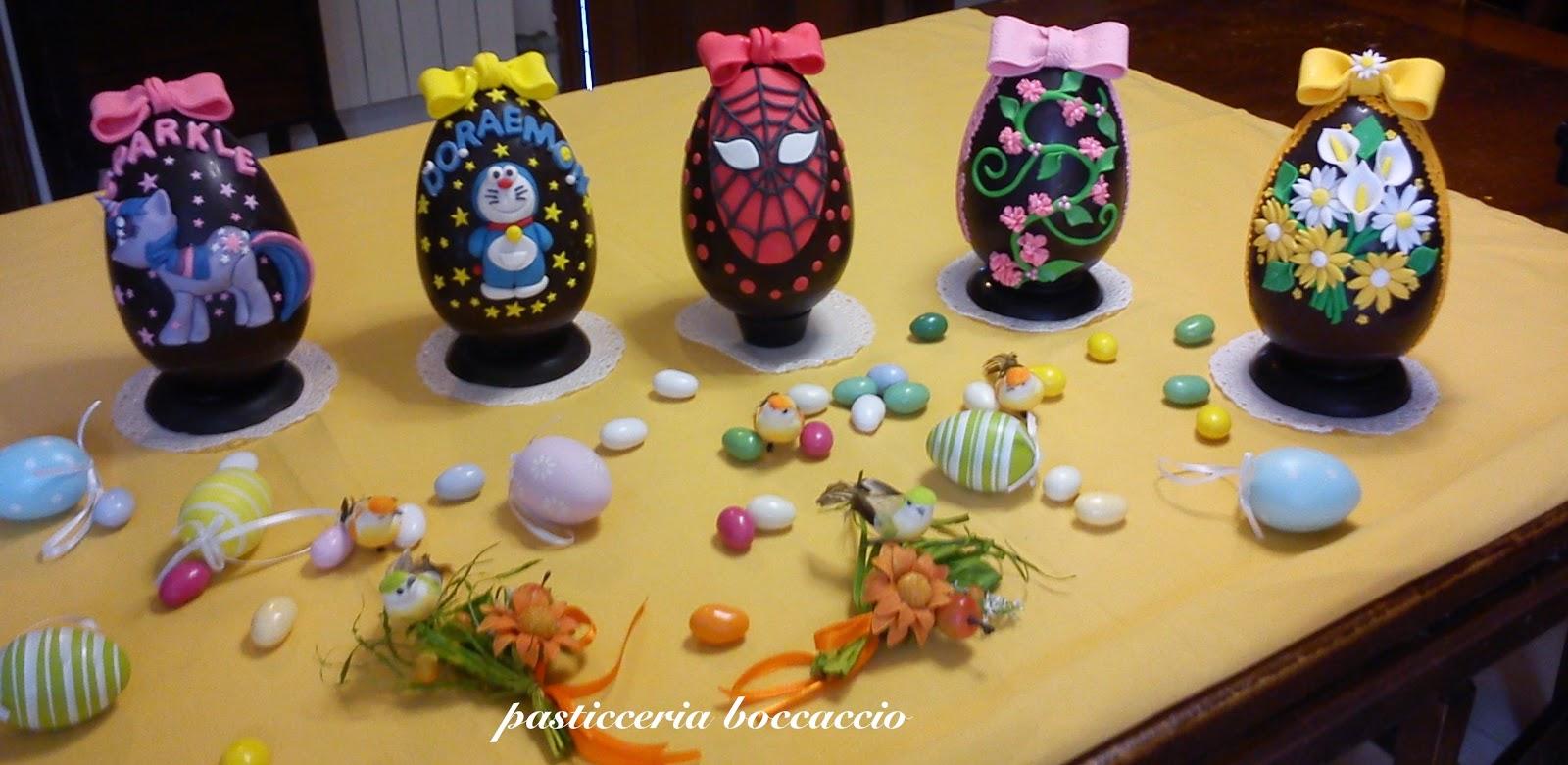 Pasticceria boccaccio uova di pasqua decorate - Uova di pasqua decorati a mano ...