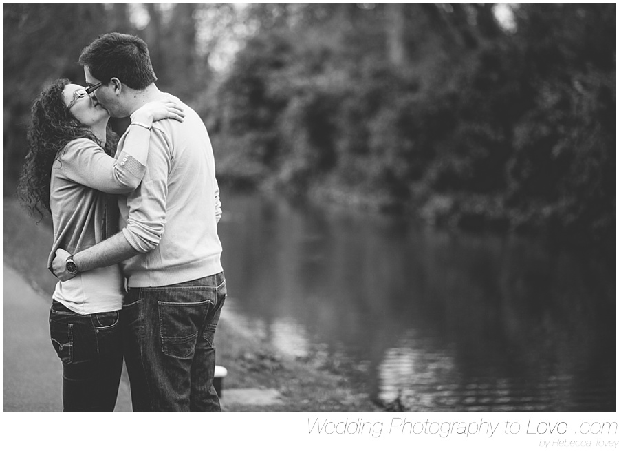 lovely kiss by a river
