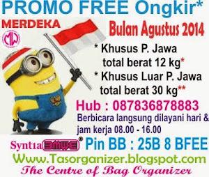 Promo FREE Ongkir  MERDEKA  bulan Agustus