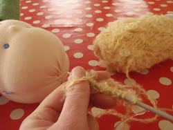 knitted waldorf doll wig tutorial