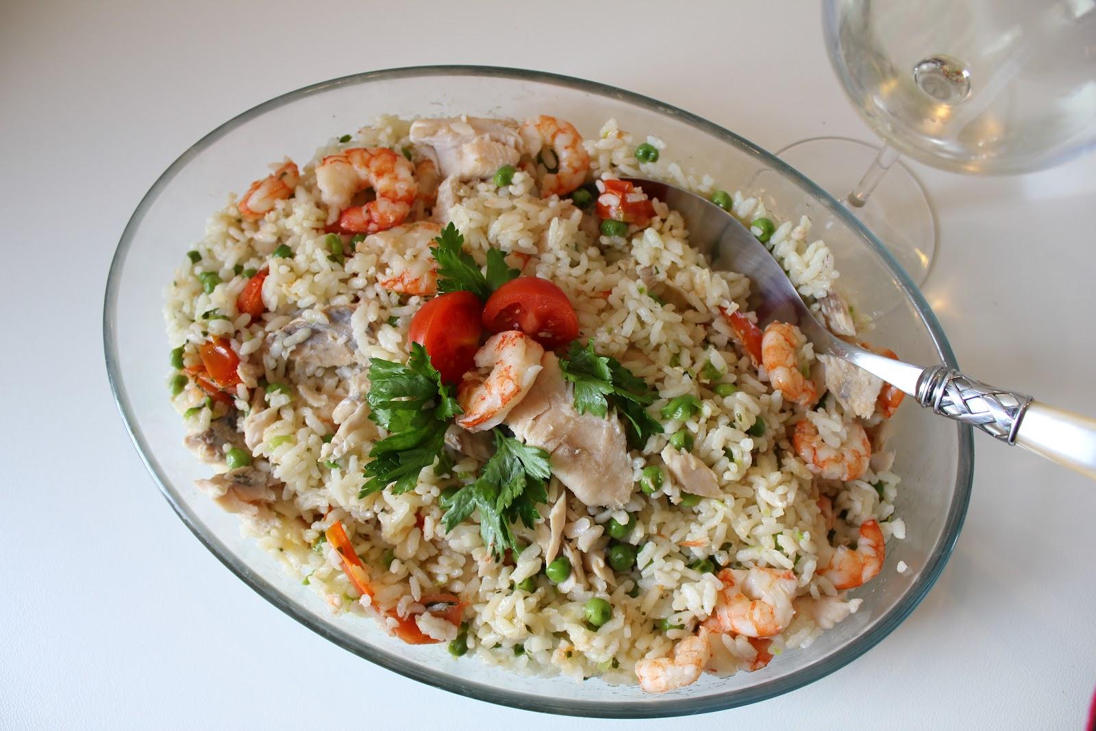 Risultati immagini per Tris di riso, pesce e verdure