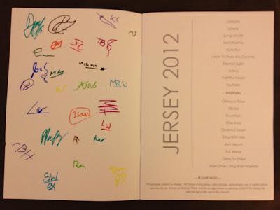 A Libera's concert programme with Libera boys' autographs.