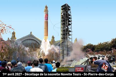 gare de Tours / projet ilot Vinci : la tour de lancement