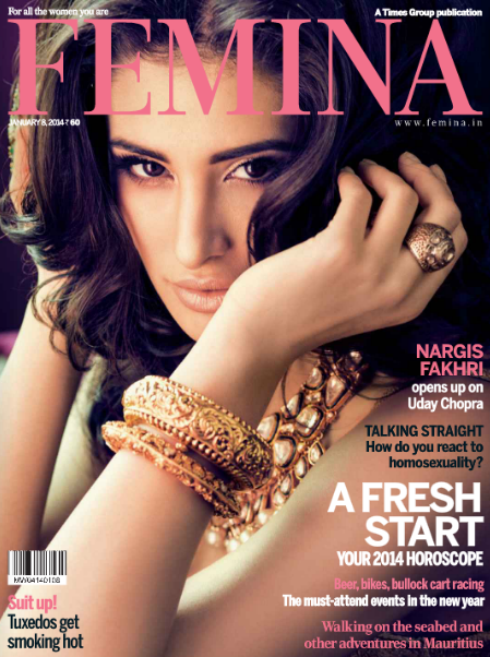 Nargis Fakhri opens up on Uday Chopra on the cover of Femina magazine