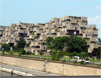 Habitab 67 - Montreal - Canadá. edificios extraños. los edificios mas extraños del mundo. lugares sorprendentes