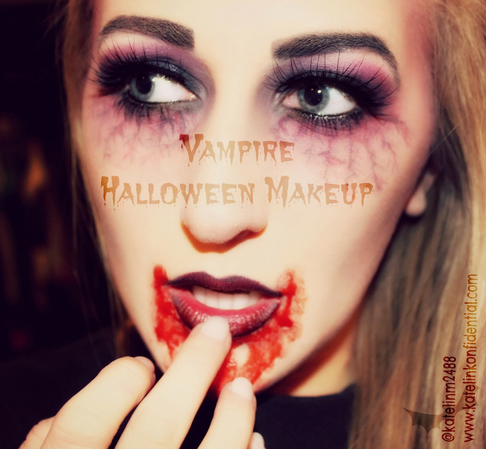 Pretty vampire makeup