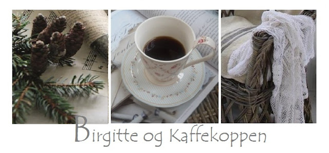 Birgitte and coffee cup