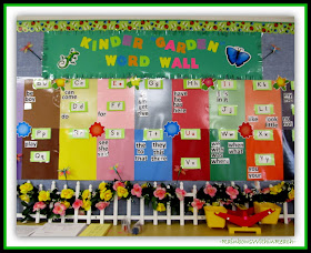 Kinder Garden Word Wall from Conversation on the Role of Play in Kindergarten at RainbowsWithinReach