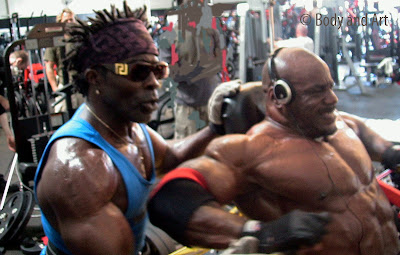 MASTER CLASS WITH ROBBY ROBINSON & CHRIS CORMIER PHOTO SHOOT FOR FLEX, GOLD'S GYM 2007 MASTER CLASS - 4-day one-on-one intensive personal training with  ROBBY ROBINSON in Gold's gym Venice, CA and nutrition & supplementation seminar ▶ www.robbyrobinson.net/master-class.php