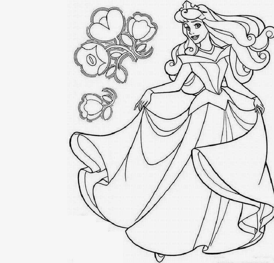 The Free Printable Disney Priness Coloring Drawing Free wallpaper