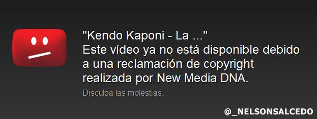 Eliminan De Youtube El Video La 40 De Kendo Kaponi