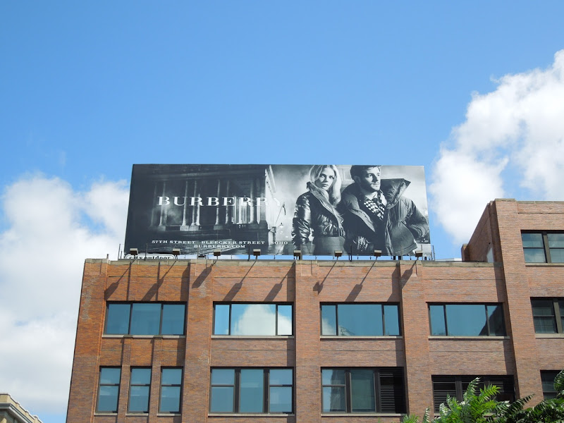 Burberry FW 2012 billboard NYC
