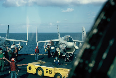 View from cockpit of AE6-B