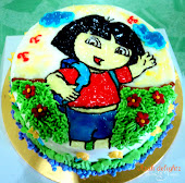 Cake with cartoon drawing
