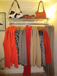 orange & leopard print look sharp for Autumn