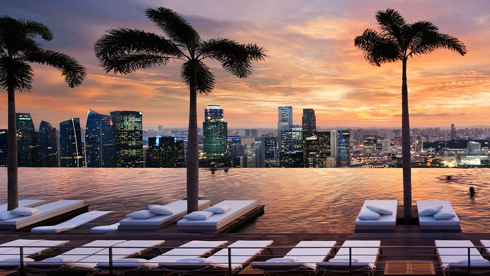 Rooftop pool marina bay sands resort singapore 9 pic for Piscina singapur