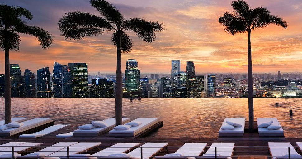 Rooftop pool marina bay sands resort singapore 9 pic awesome pictures - Marina bay singapore pool ...