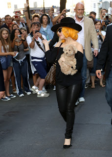 Lady Gaga on her way to hotel