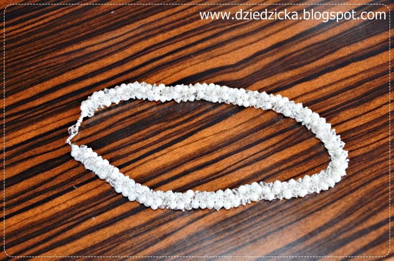 Perłowo – kryształowy naszyjnik