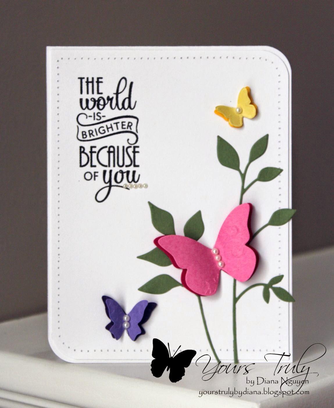 Diana Nguyen, Verve, Butterflies, Memory Box Fresh Foliage