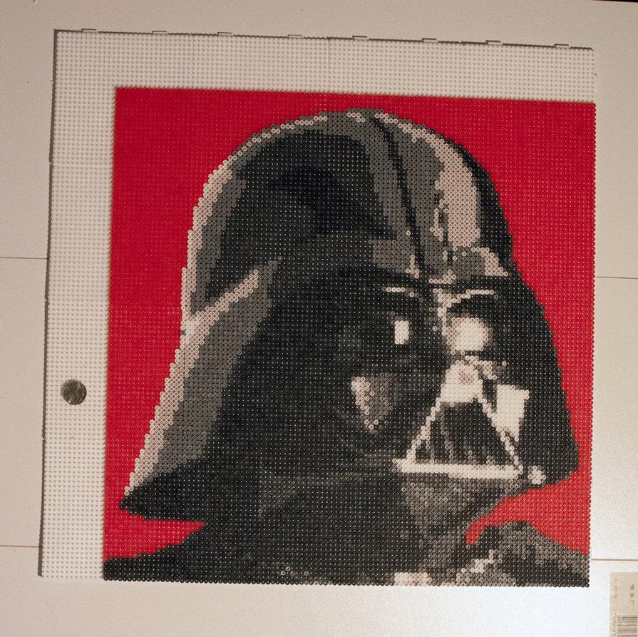 Plantilla Hama Beads de Dark Vader - Star Wars | Creaciones con Hama ...