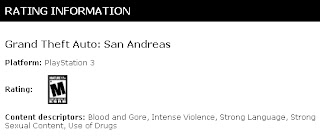 grand theft auto san andreas ps3 esrb ESRB Has Rated Grand Theft Auto: San Andreas & Grand Theft Auto: Vice City For PS3