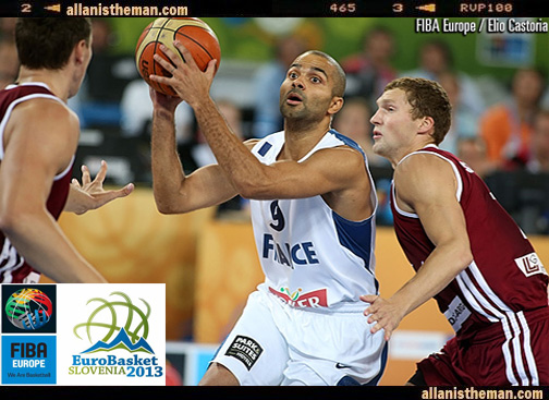 Eurobasket 2013: Tony Parker's France holds off Latvia Rally
