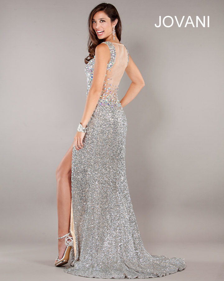 Jovani Prom Dresses 2013 long seuqins split