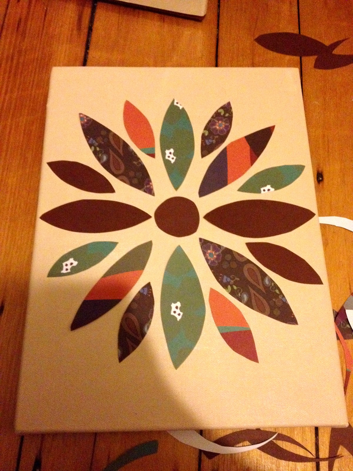 How to put scrapbook paper on canvas