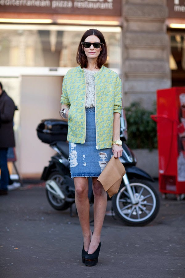 2015 Trends Inspiration: Denim Skirt
