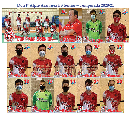 Plantilla Senior Don P´Alpie: Fotos