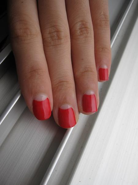 much love marie rojo half moon nails