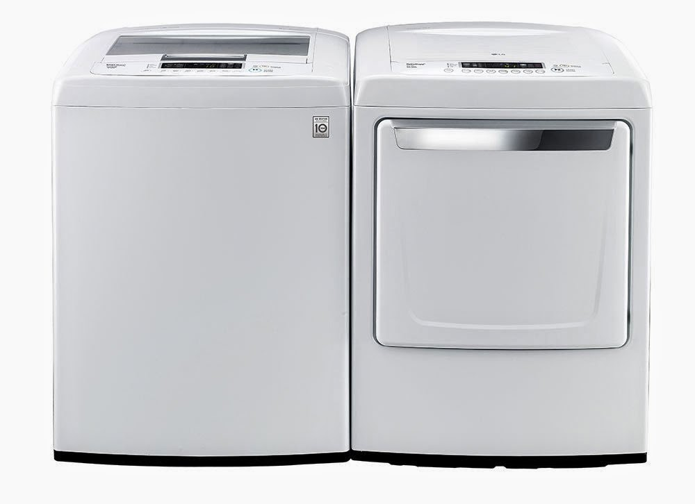 lg euro series high efficiency top load laundry set
